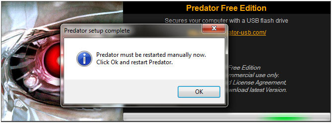 Predator-setup-procedure