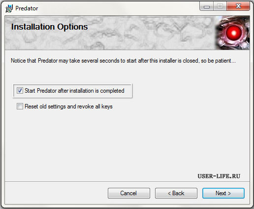 Install-Predator