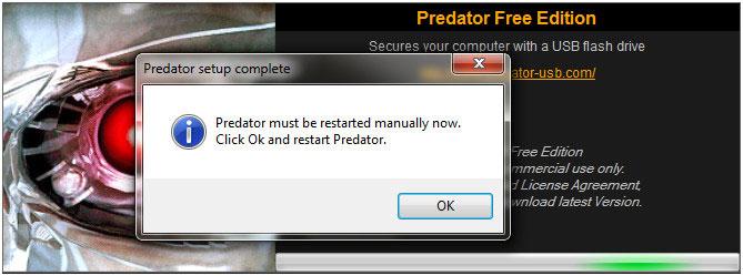 Predator-setup-procedure