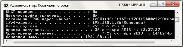uznat svoy IP adres